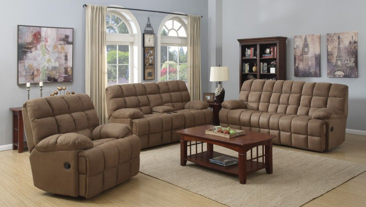 Pickett Mocha Reclining Living Room Set