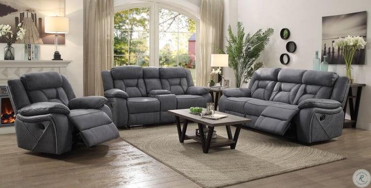 Higgins Gray Reclining Living Room Set