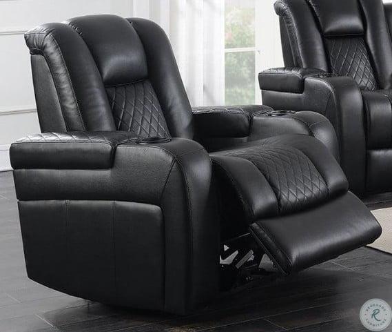 Admirable Delangelo Motion Black Power Recliner Machost Co Dining Chair Design Ideas Machostcouk