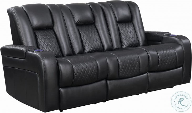 Delangelo Black Power Reclining Living Room Set