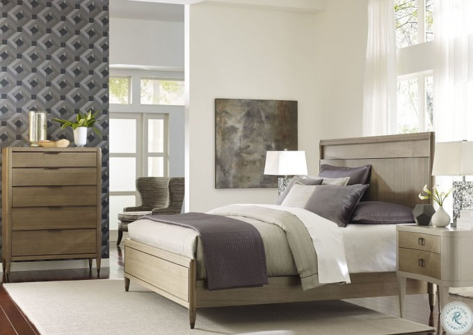 Ad Modern Classics Dark Oak Espresso Stain Craven Queen Panel Bed