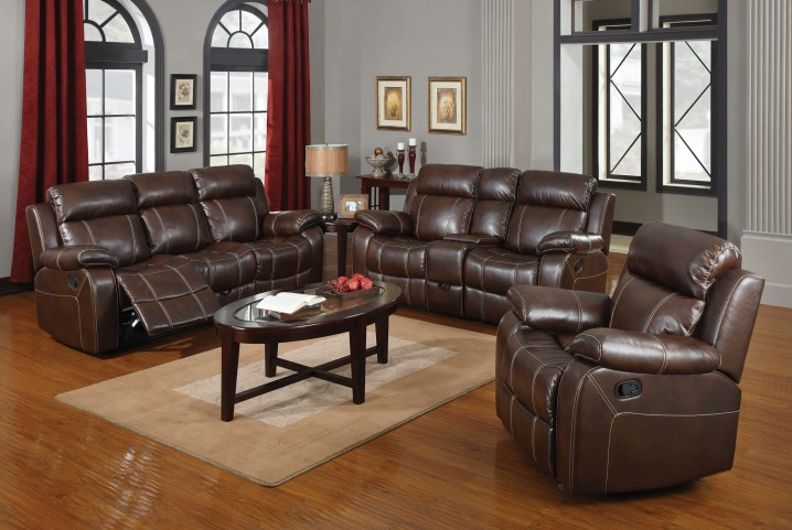 Myleene Chestnut Reclining Living Room Set