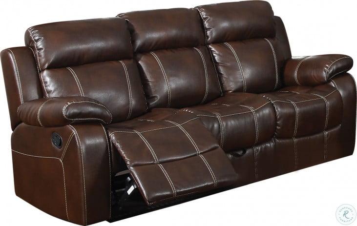 Myleene Chestnut Reclining Sofa From Coaster
