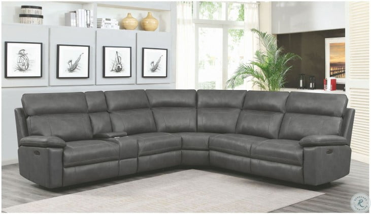 Albany Gray Power Reclining Sectional