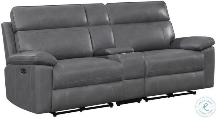 Albany Gray Power Reclining Power Headrest Living Room Set
