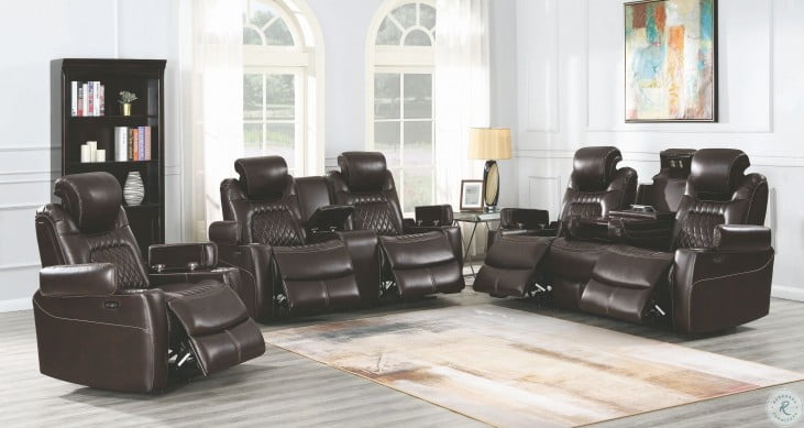 Korbach Espresso Power Reclining With Power Headrest Living Room Set