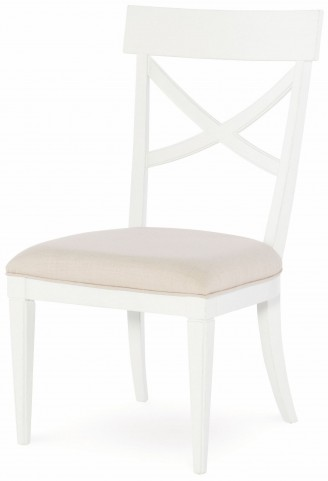 Upstate Bianco X-Back Side Chair Set of 2