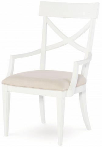 Upstate Bianco X-Back Arm Chair Set of 2