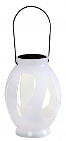 Leaves White Solar Lantern