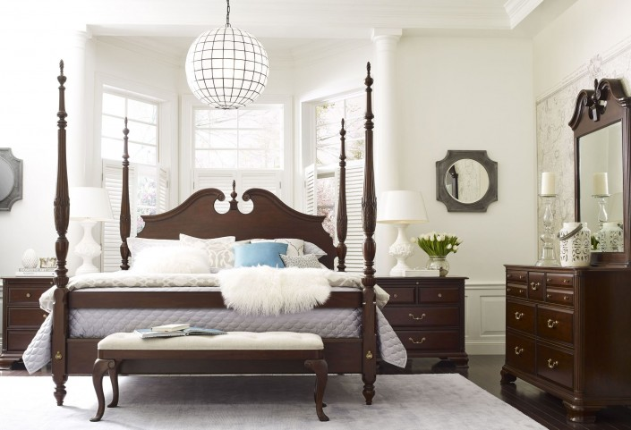 Hadleigh Rice Carved Poster Bedroom Set