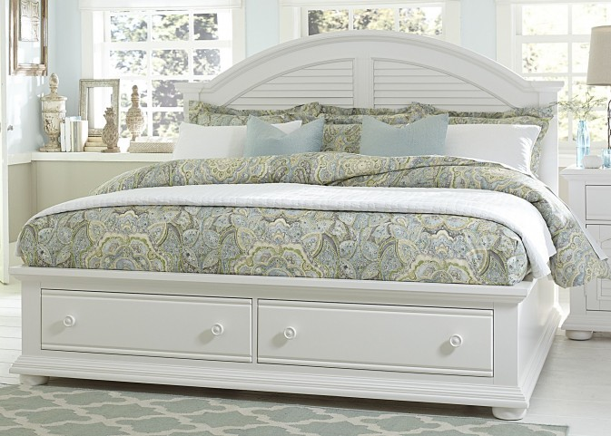 Summer House Oyster White King Panel Bed