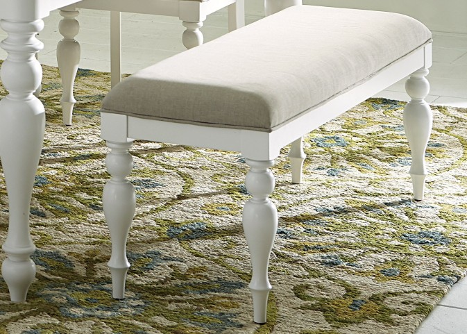 Summer House Oyster White Bench
