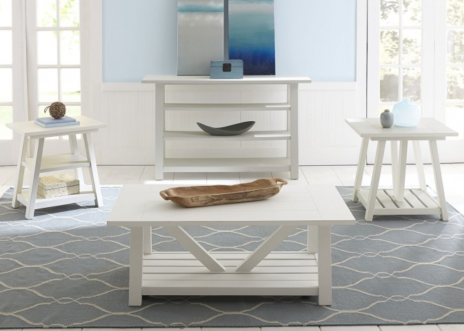 Summer House Oyster White Occasional Table Set
