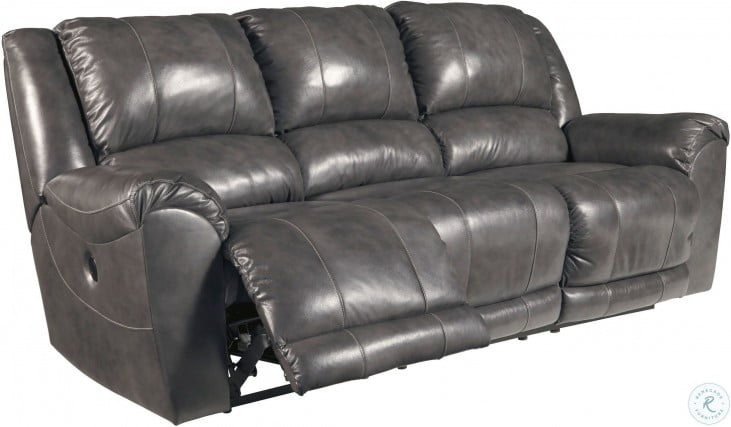 Persiphone Charcoal Reclining Sofa from Ashley | Coleman Furniture