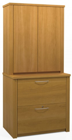 """Embassy Cappuccino Cherry 30"""" Lateral File with Cabinet"""