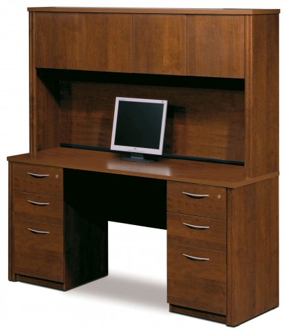 Embassy Tuscany Brown Credenza with Hutch