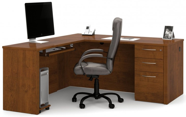 Embassy Tuscany Brown L-Shaped Desk