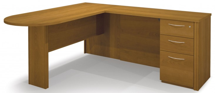 Embassy Cappuccino Cherry L-Shaped Desk