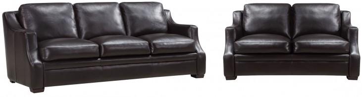 Grandview Espresso Leather Living Room Set