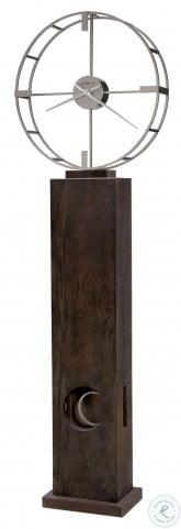 Juno Iii Dark Coffee Oak Floor Clock
