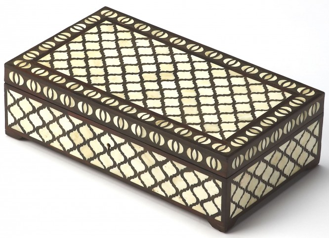 Basan Wood & Bone Inlay Storage Box