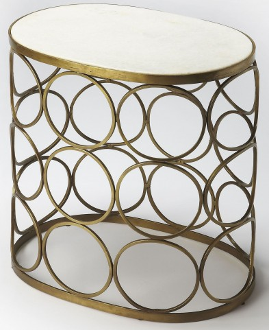 Talulah Oval Marble Accent Table