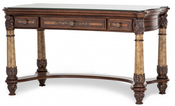 Victoria Palace Writing Desk With Glass Top