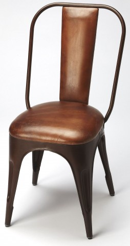 Riggins Iron & Leather Side Chair