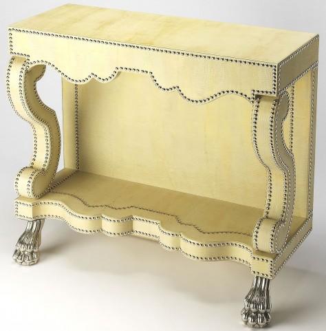 Bonino Cosmopolitan Leather Console Table