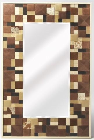 Gagne Hair-On-Hide Wall Mirror