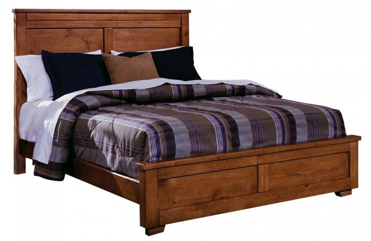 Diego Cinnamon Pine Queen Panel Bed