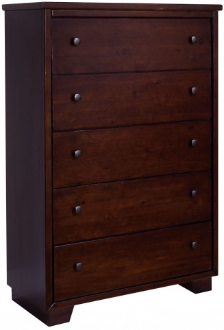 Diego Espresso Pine Drawer Chest