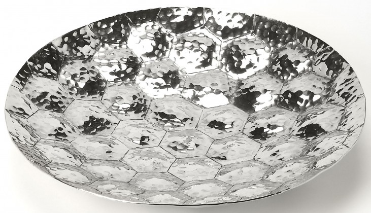 Prismatic Hammered Stainless Steel Platter