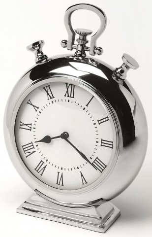 Alistair Nickel Finish Desk Clock