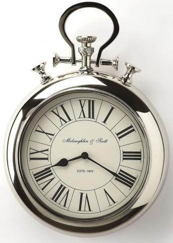 Guilford Nickel Finish Wall Clock