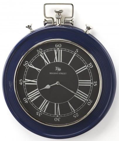 Sapphire Blue Finish Wall Clock