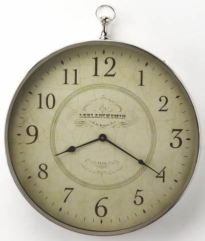 Le Blanc Nickel Finish Wall Clock