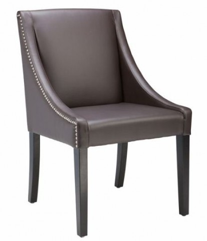 Lucille Leather Brown Dining Chair