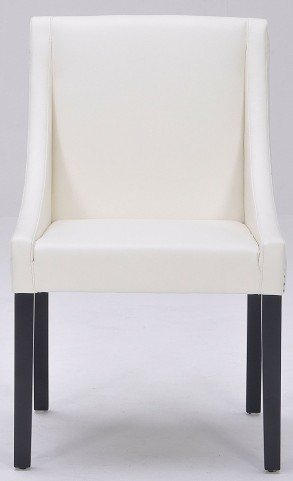 Lucille Ivory Leather Dining Chair