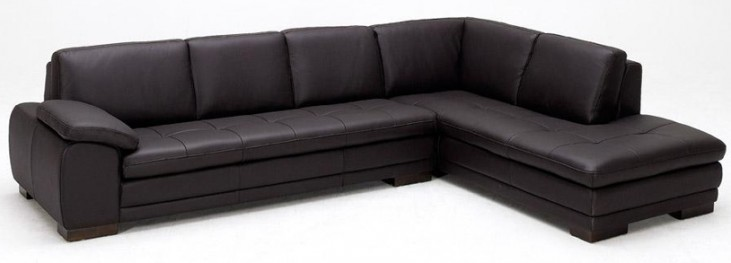 625 Brown Italian Leather RAF Sectional