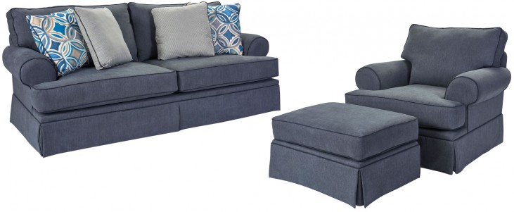 Emily Woven Fabric Living Room Set