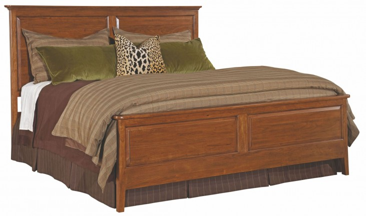 Cherry Park King Panel Bed