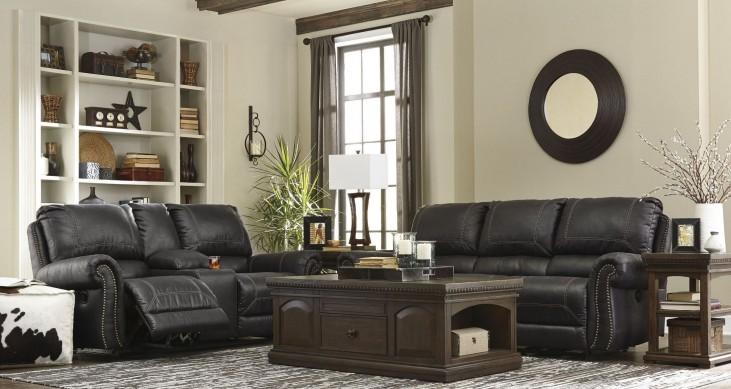 Milhaven Black Reclining Power Living Room Set