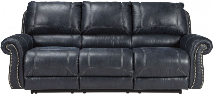 Milhaven Navy Reclining Sofa