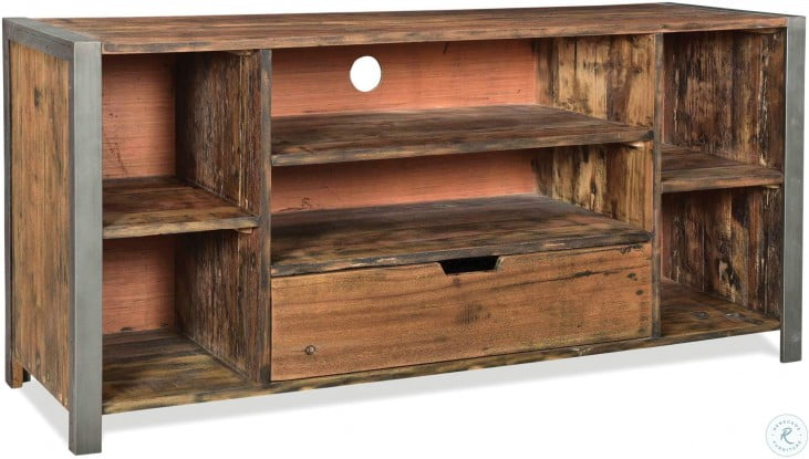 Quinton Patina Wood TV Console