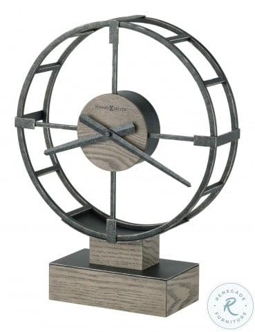 Juno Silver And Gray Accent Clock