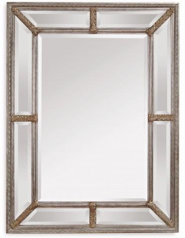 Roma Ant Silver Leaf Wall Mirror