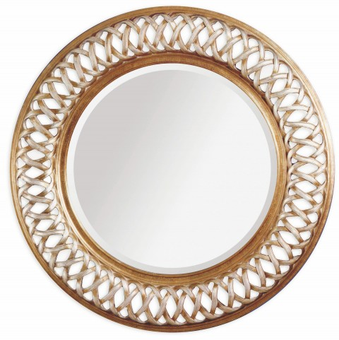 Alissa Champagne Leaf Wall Mirror