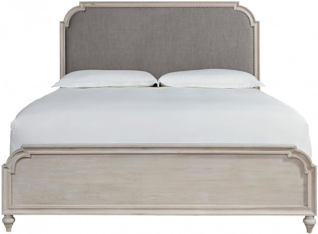 Elan Elm King Upholstered Panel Bed