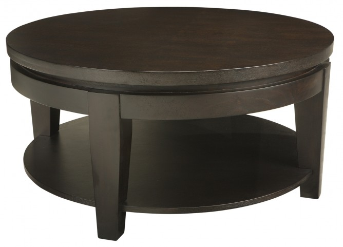 Asia Round Coffee Table With Shelf